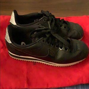 Nike black cortez sneakers